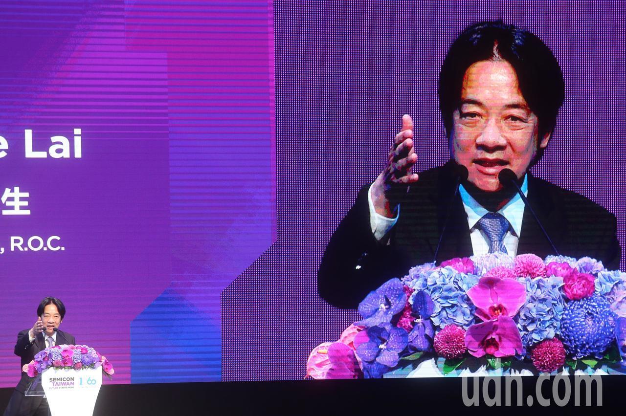 行政院長賴清德上午出席「SEMICON Taiwan 2018國際半導體展」並致...