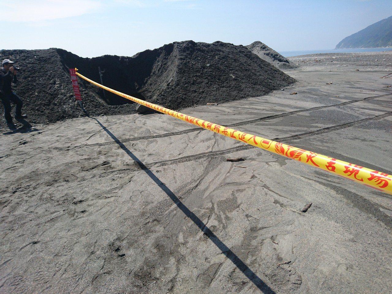 宜蘭南澳神秘沙灘今天封閉。記者羅建旺/攝影