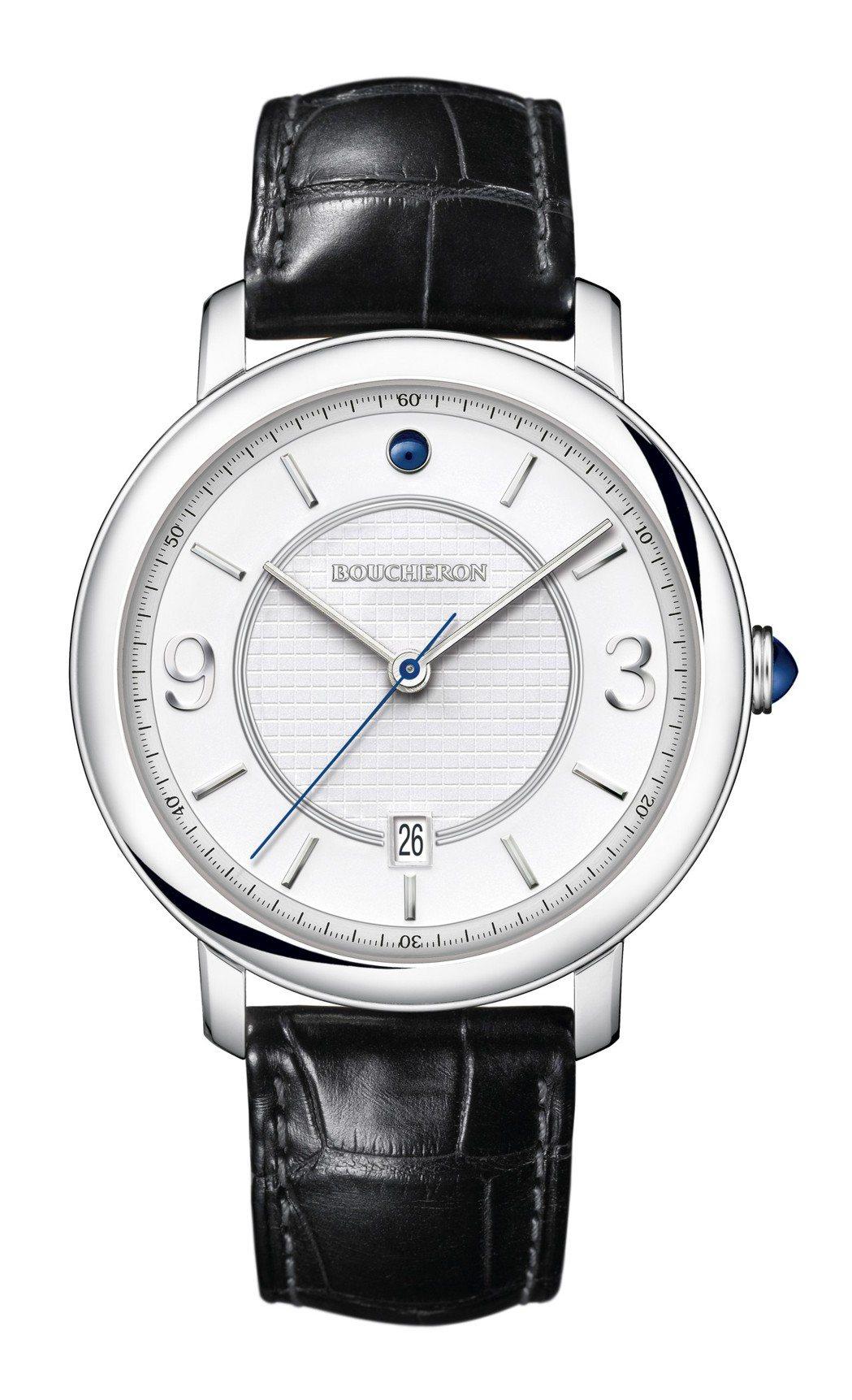 寶詩龍Epure 42毫米不鏽鋼腕表,16萬4,000元。圖/寶詩龍提供
