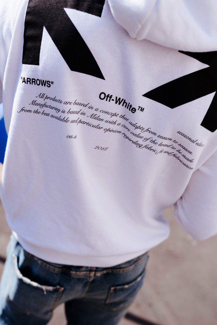 Off-White在本月再度推出佛心價的For All系列,同樣是限量發售。圖/...