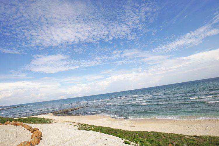澎湖覓海灣精品露營車附近有美麗的潮間帶。圖/摘自覓海灣精品露營車粉絲專頁
