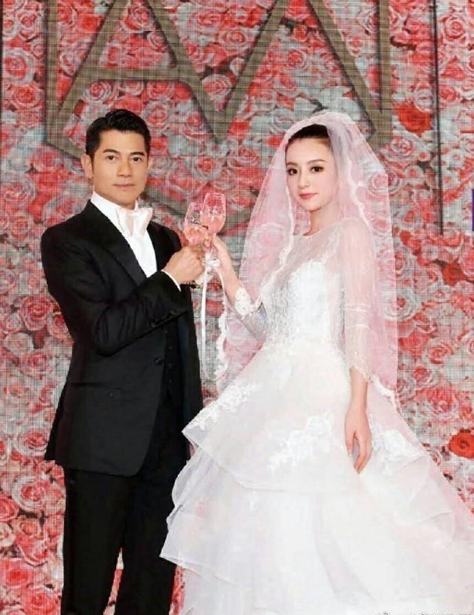 郭富城(左)、方媛(右)的婚紗照。圖/摘自臉書