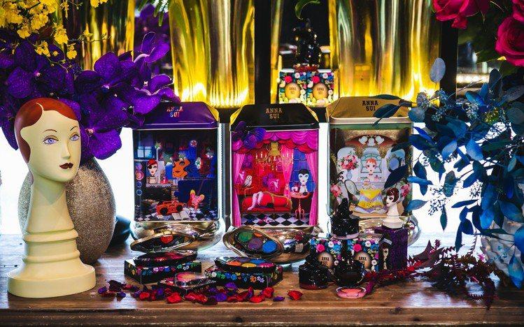 ANNA SUI 2018秋冬彩妝與20周年限量商品。圖/ANNA SUI提供