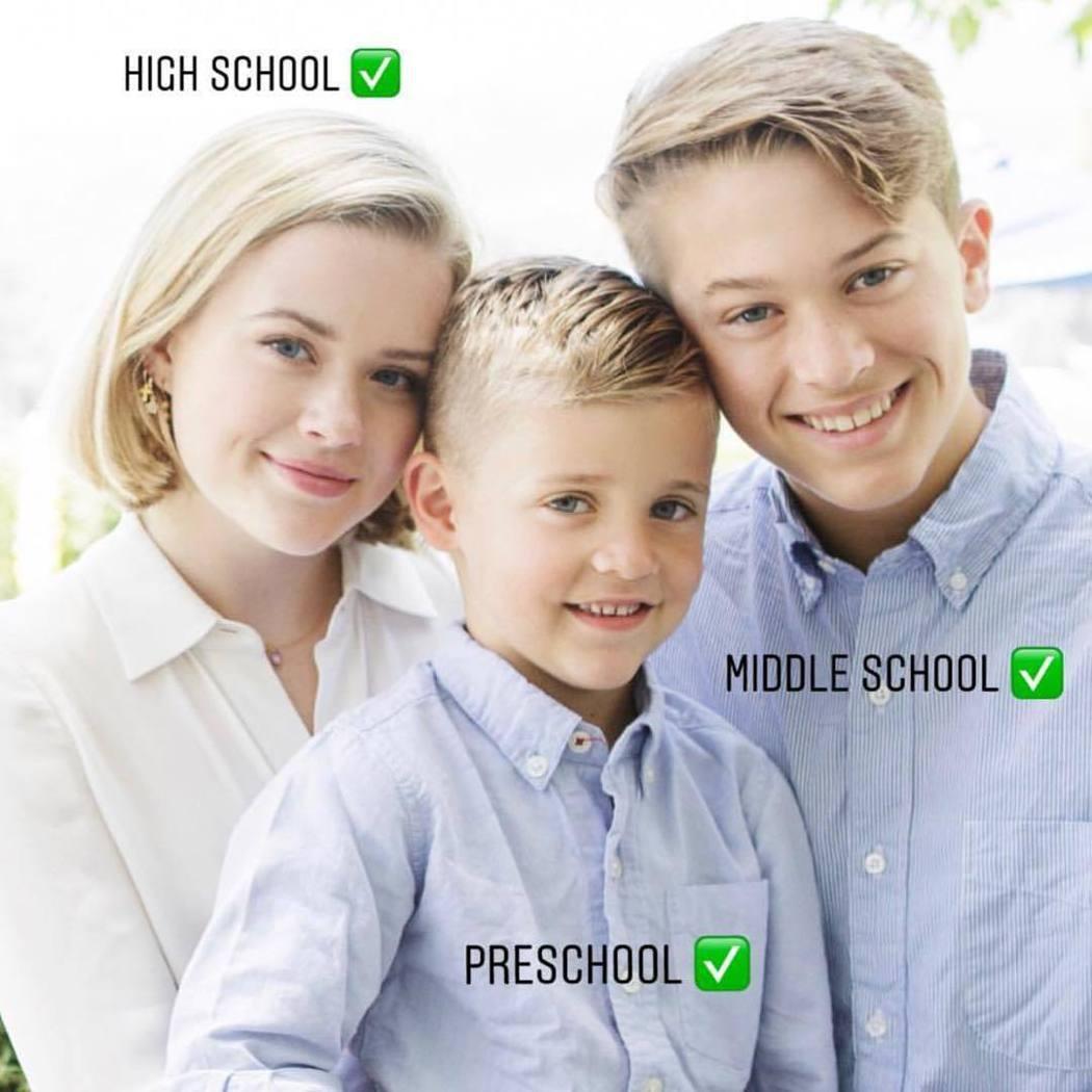 艾娃和兩個弟弟狄肯、田納西都長得超像媽媽。圖/摘自Instagram