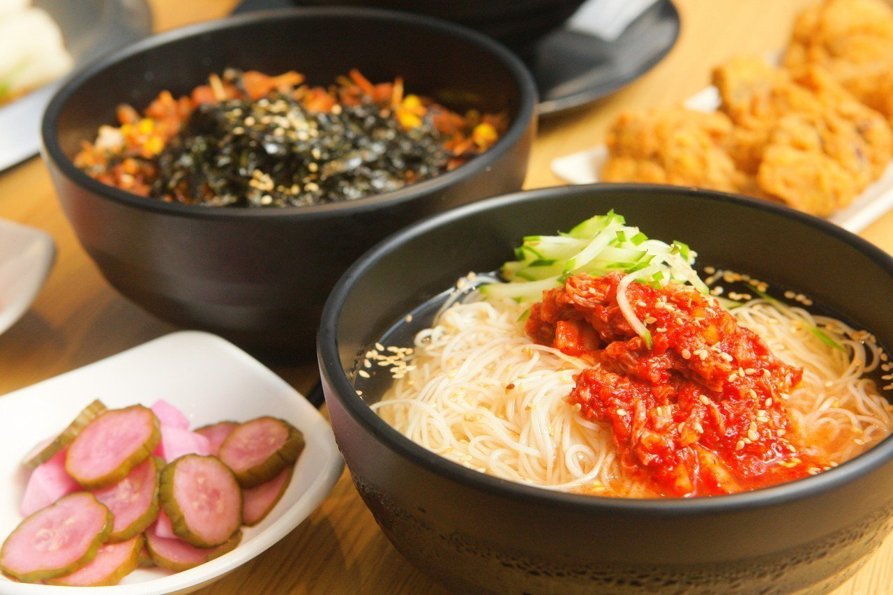 清涼的韓式冷麵,每份149元。記者陳睿中/攝影