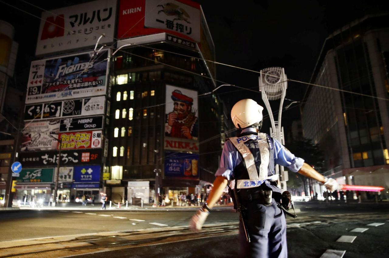 北海道強震,重創札幌市區。路透