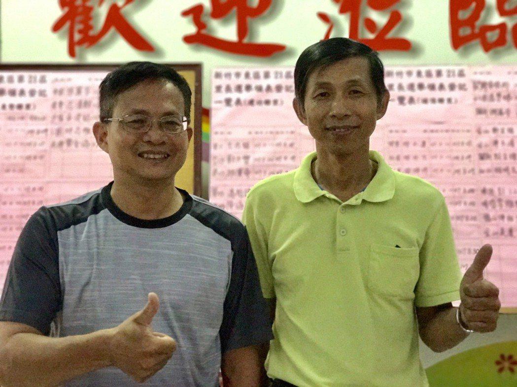 新竹市三合一選舉兄弟檔,弟弟曾資程(左)拚市議員三連霸,哥哥曾資強(右)選里長因...