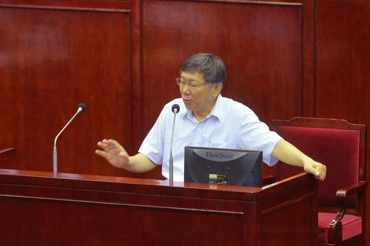台北市長柯文哲。 中央社