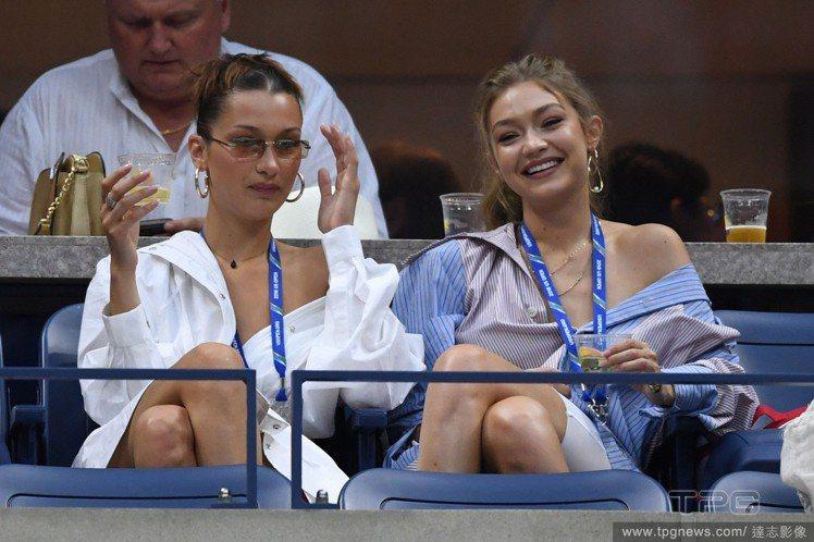 (左)Bella Hadid、Gigi Hadid。圖/達志影像
