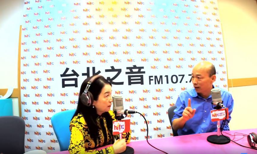 韓國瑜上電台節目受訪,被問到吳音寧與柯文哲對於第一果菜市場改建案隔空駁火的看法。...