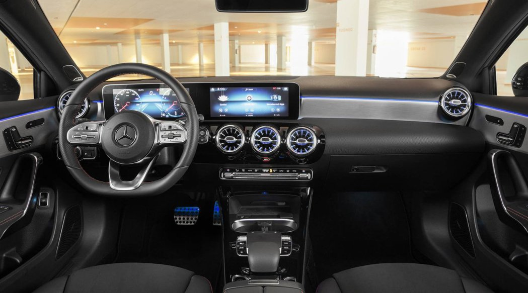 全新Mercedes-Benz A-Class Sedan內裝。 摘自Mercedes-Benz