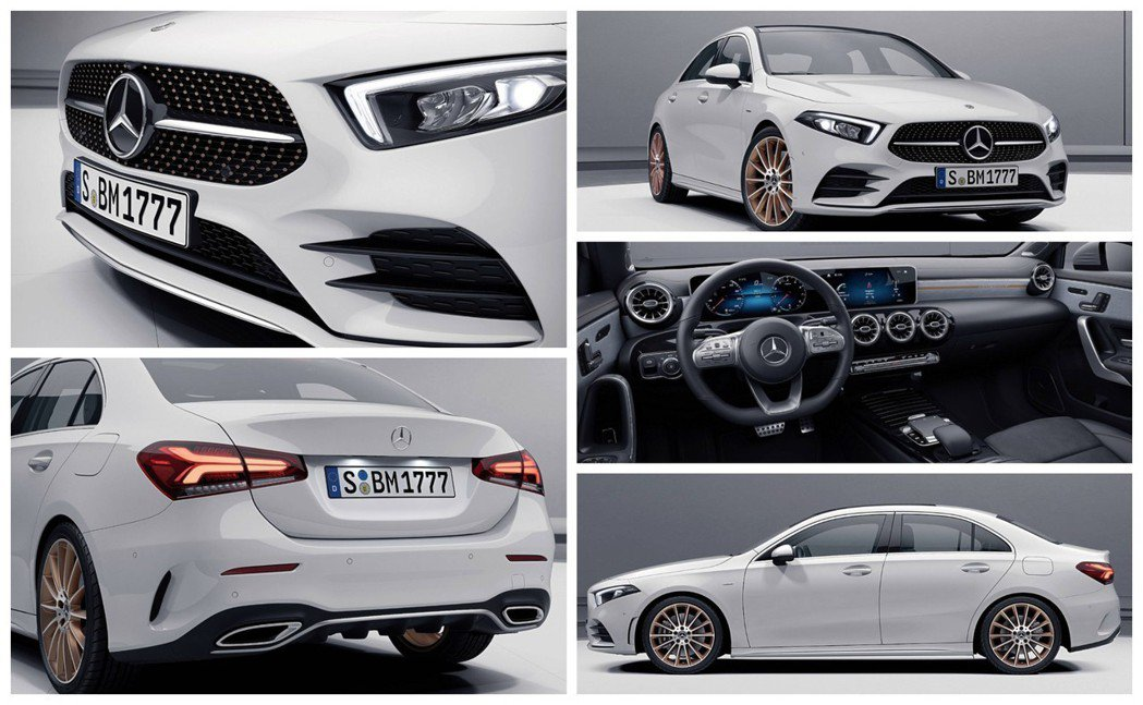 全新Mercedes-Benz A-Class Sedan Edition 1。 摘自Mercedes-Benz