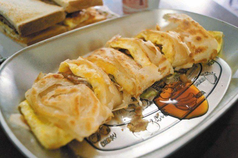 網友點名「薯餅蛋餅」是「神的美食」,得到許多人贊同。(蛋餅示意圖) 聯合報系資料照片/記者曾健祐攝影