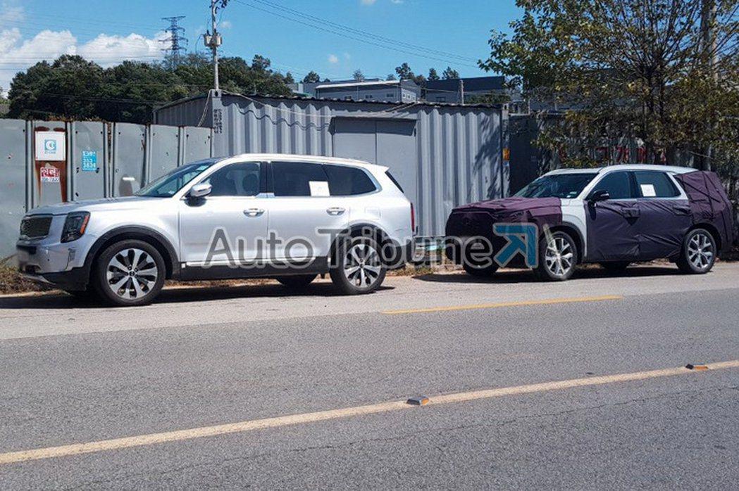 無偽裝全新Kia Telluride在韓國被捕捉到。 摘自Auto Tribune