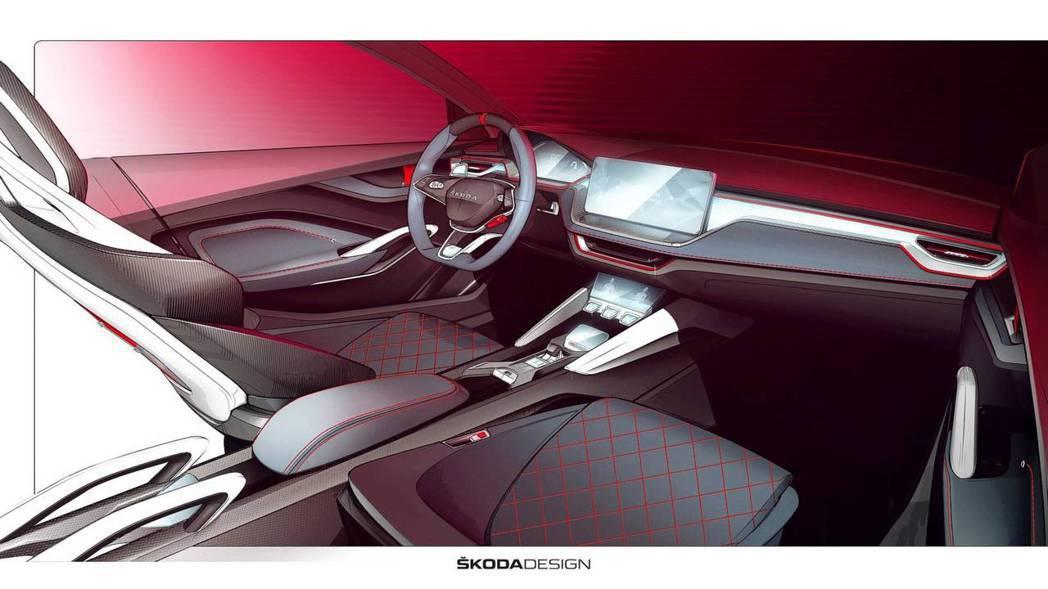 Vision RS概念車極富科技感與跑格的座艙。 摘自Škoda
