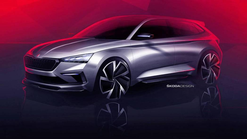 Škoda Vision RS。 摘自Škoda