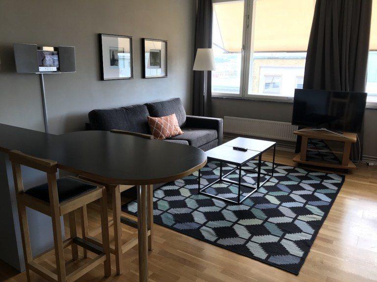 一進門有個大客廳,沙發的樣式是沙發床,所以入住3~4人是沒有問題的 圖文來自於:...