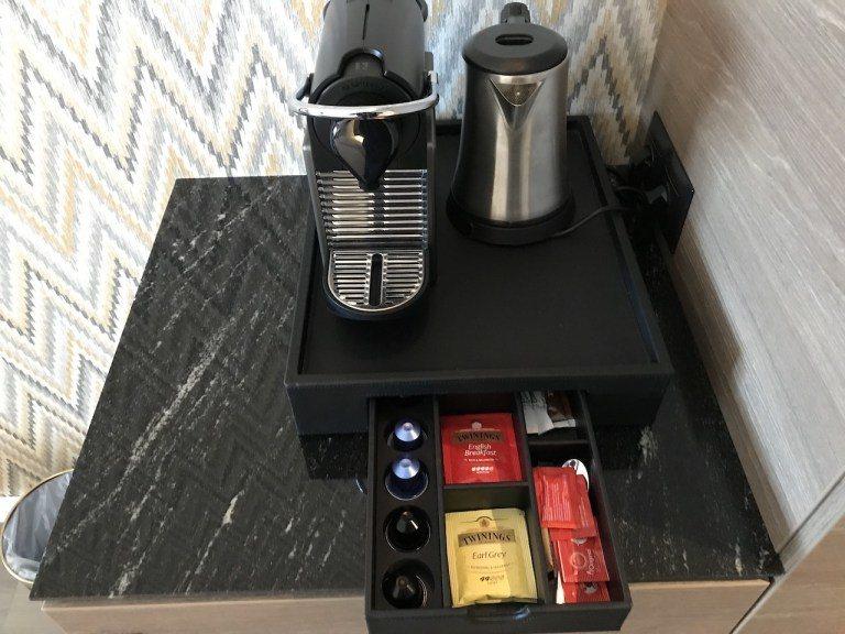 高級房間的差別,就是有Nespresso咖啡機 圖文來自於:TripPlus