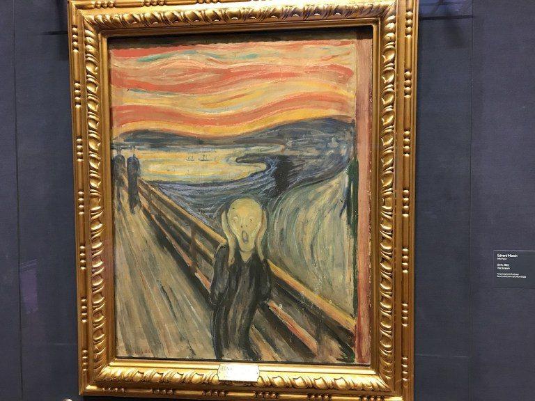 """你可能看過這幅畫很多次,但是可能不知道""""吶喊""""的畫家孟克,其實是挪威人。比較有趣..."""