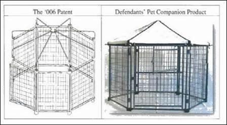 圖1 D'006專利與被控侵權物 (圖片來源:CAFC)
