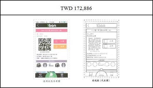 圖4:統一超商公司將可變化部分挖空留白之GUI設計