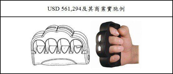 圖6:P.S. 產品公司的電擊槍設計專利及商業實施例