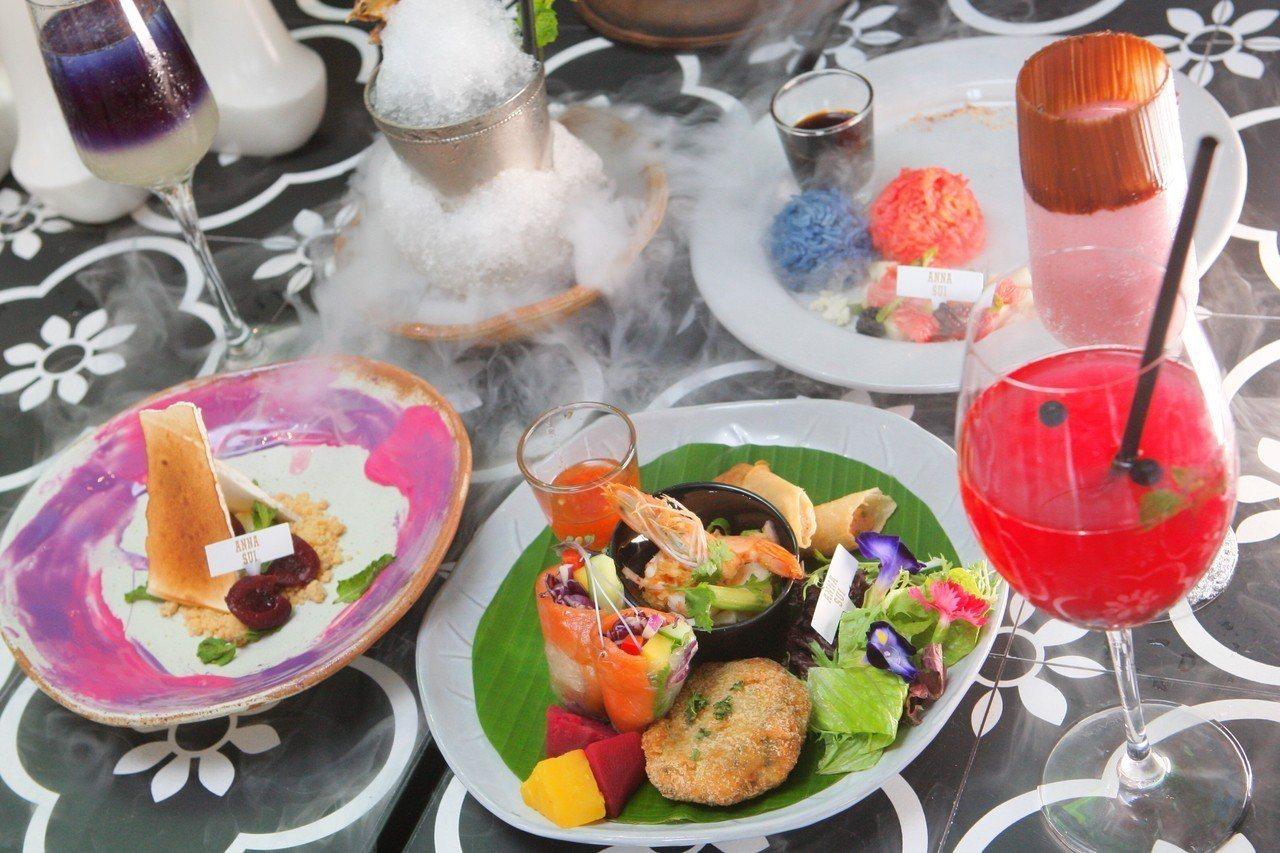 Thai J與Anna Sui合作推出聯名款「限量魔幻旅行寶盒套餐」。記者陳睿中...