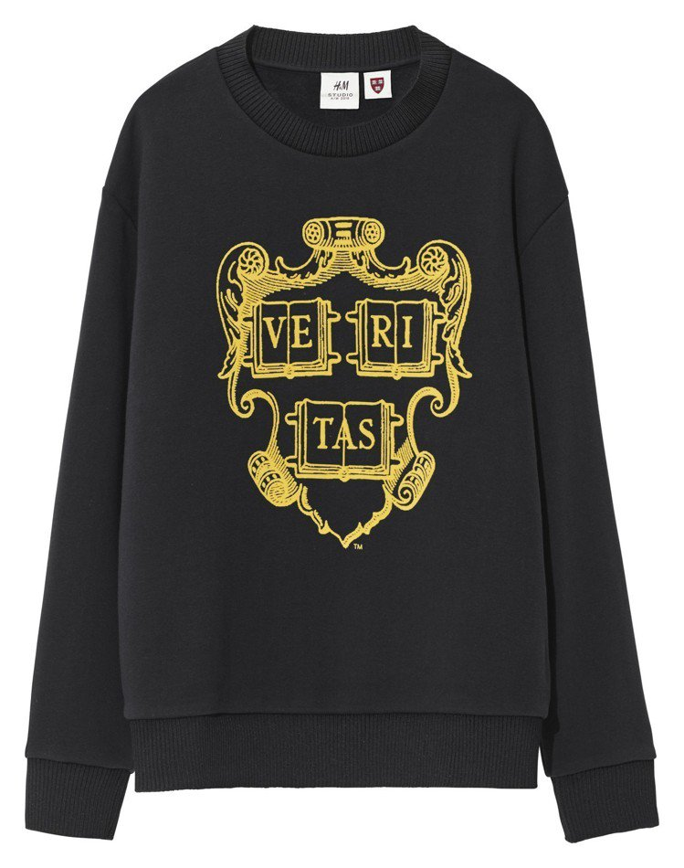 H&M Studio系列秋冬男裝大學圓領衫,1,299元。圖/H&M提供