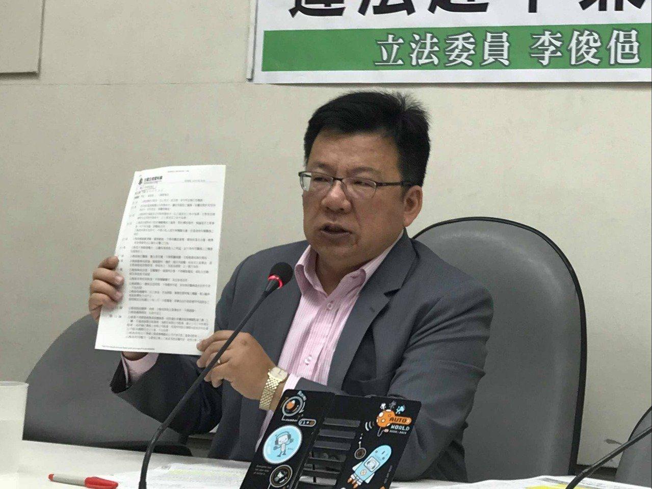 民進黨立院黨團幹事長李俊俋。記者林麒瑋/攝影