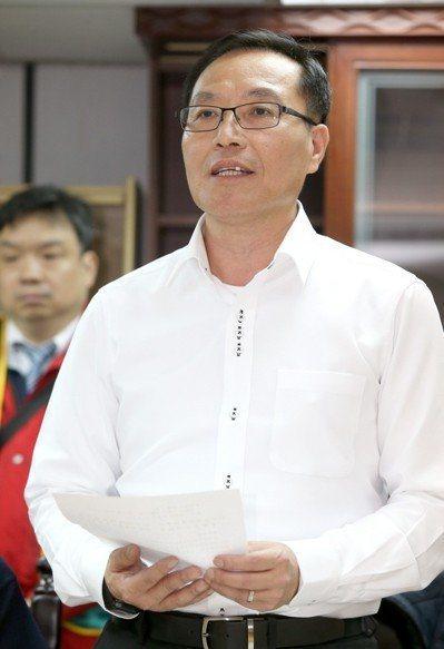 全國產業總工會秘書長戴國榮。報系資料照