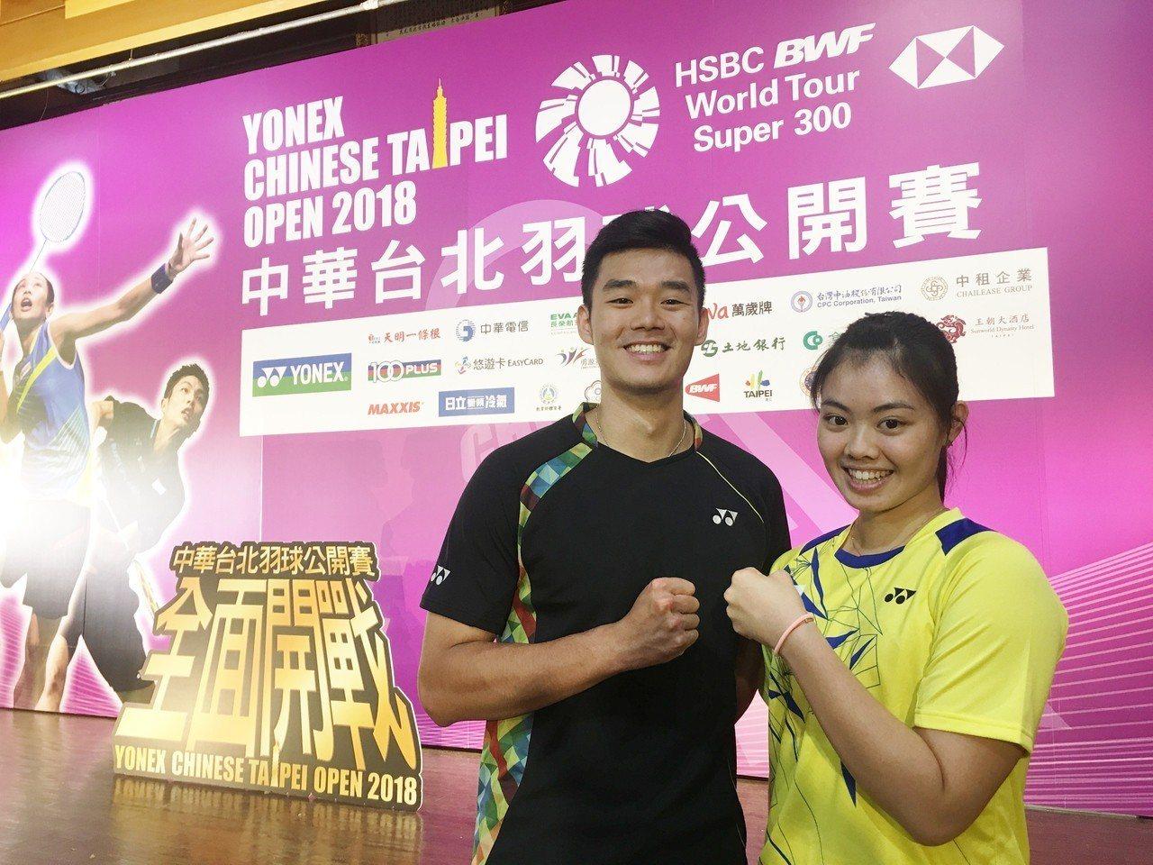 王齊麟(左)、李佳馨期待今年更進一步。記者曾思儒/攝影