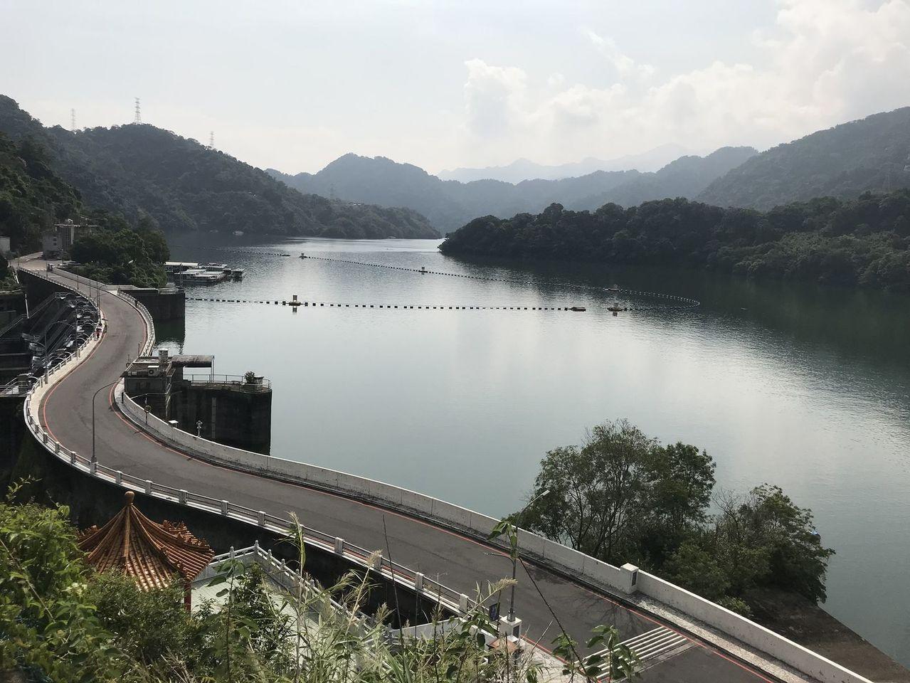 石門水庫因上游集水區降雨,水位逐漸上升己達滿水位。圖/經濟部北水局提供