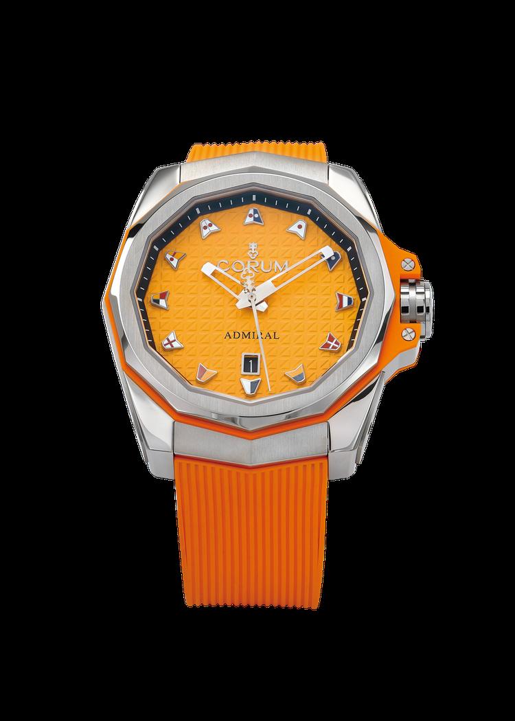 Corum Admiral AC-One 45海軍上將系列彩色腕表,不鏽鋼表殼搭...