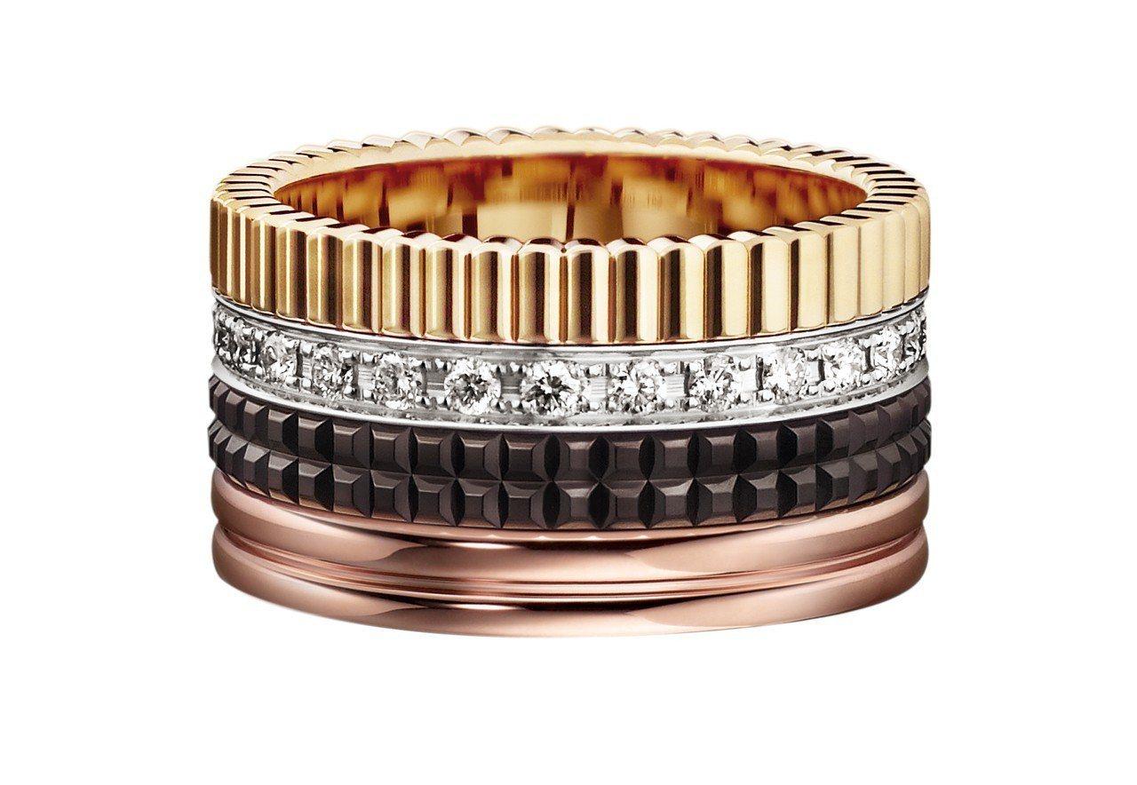 始源配戴的Quatre鑲鑽戒指,16萬6,500元。圖/寶詩龍提供