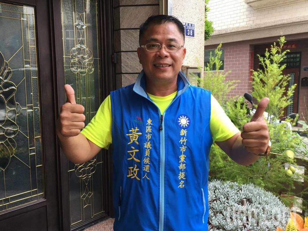 綠水里長黃文政轉換跑道,挑戰縣議員選戰。記者郭宣彣/攝影
