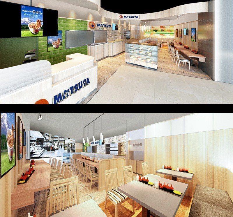 松屋台灣1號店內裝,採用大量木質系元素。圖/取自松屋官網