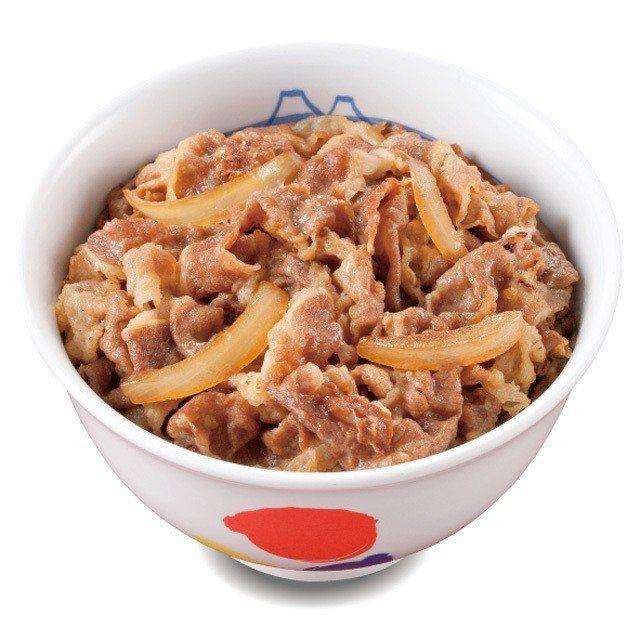 松屋牛丼(普通碗),在台定價為69元。圖/取自松屋官網