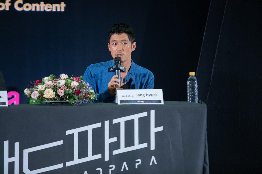 張赫6日出席新戲說明會。圖/KKTV提供