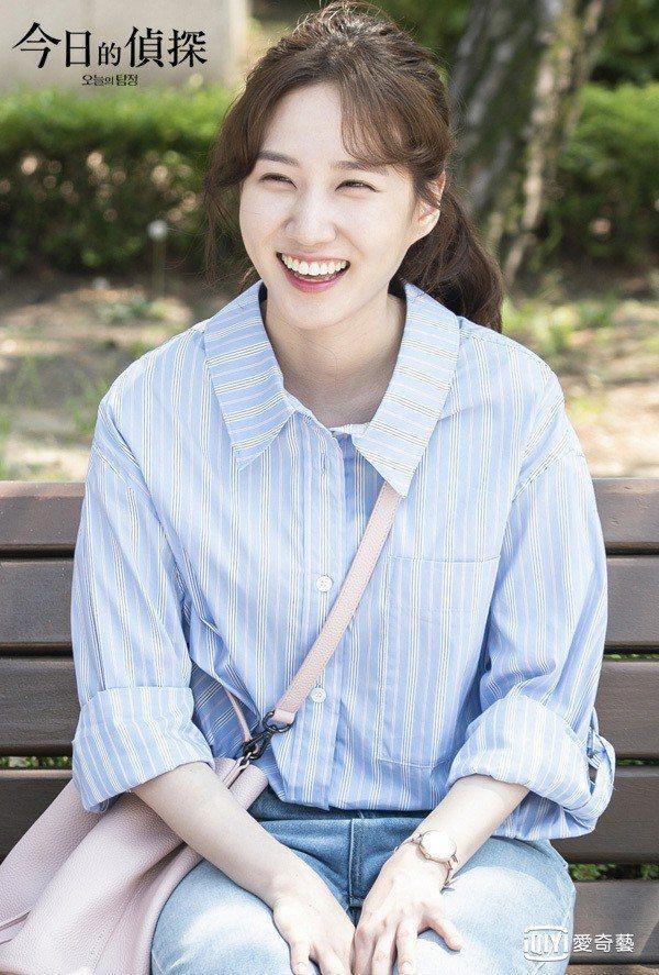 朴恩斌在電視劇「今日的偵探」飾演打工女孩鄭汝蔚。圖/愛奇藝提供