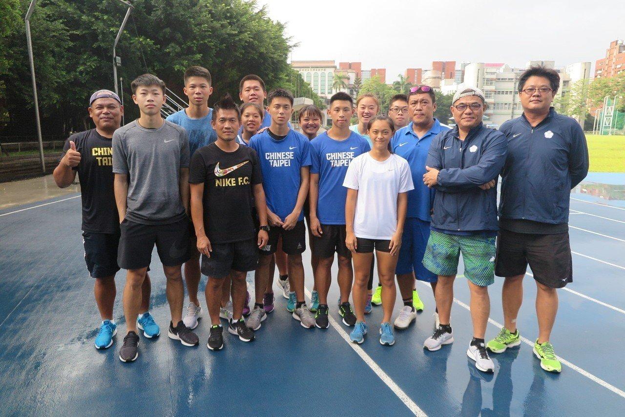 中華田徑隊在北市大同高中積極備戰青奧。記者毛琬婷/攝影