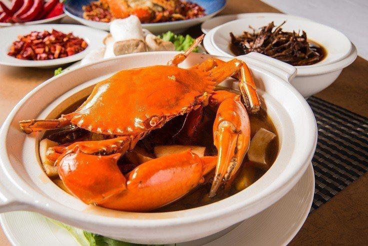 新竹老爺酒店「斯里蘭卡蟹二吃」重量級登場。業者/提供