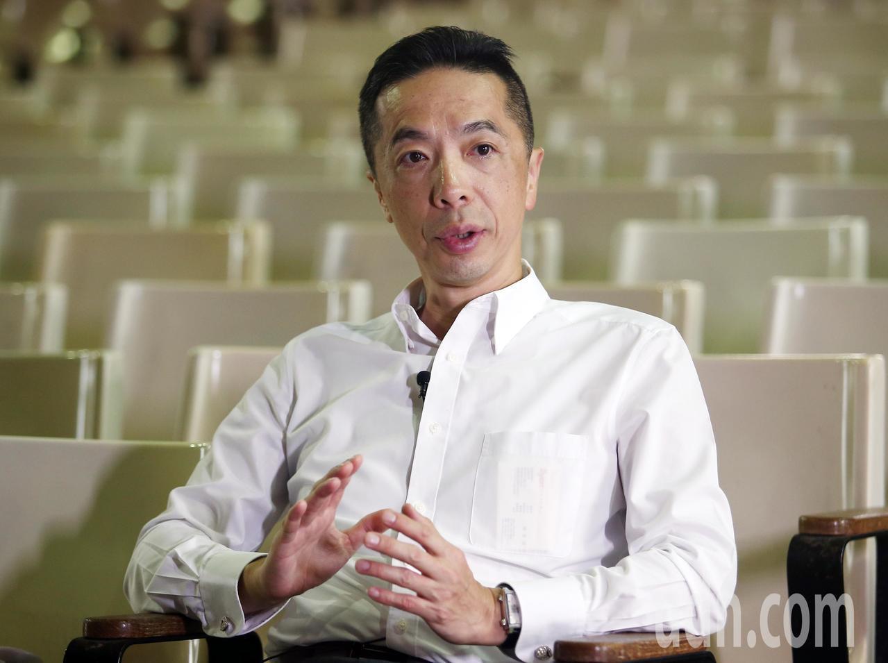 勇源教育發展基金會執行長陳致遠說明基金會的理念。記者杜建重/攝影