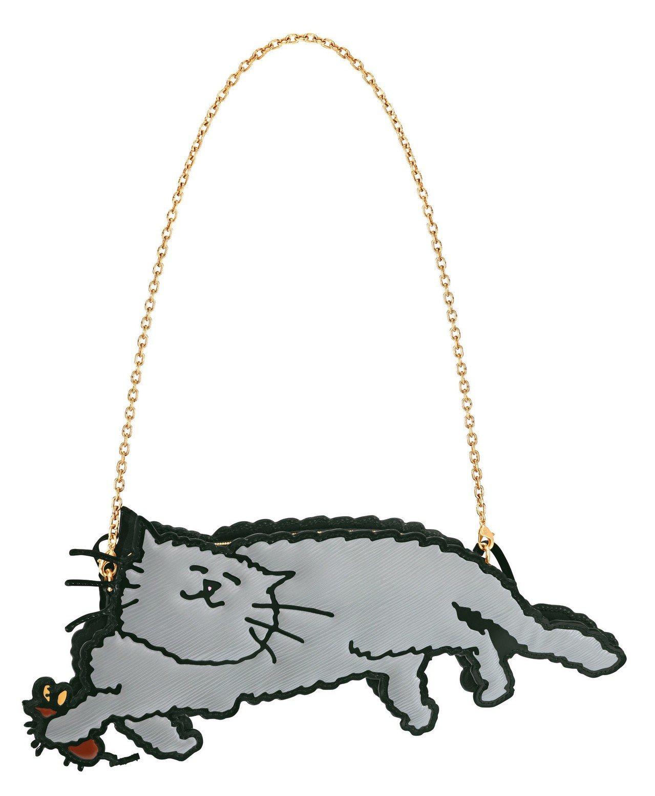 貓捉老鼠變身為別緻的全新手袋。 圖/LV提供
