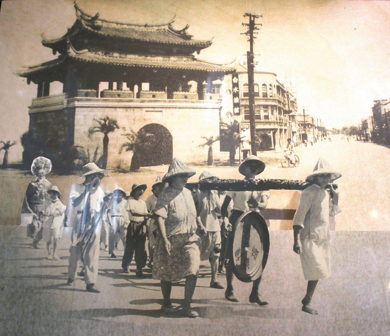 竹市過去的東門城。 圖/文化局提供