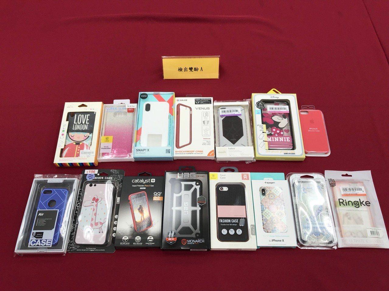 消費者文教基金會7日在台北召開記者會,說明日前隨機購買的20件手機殼抽驗結果,發...