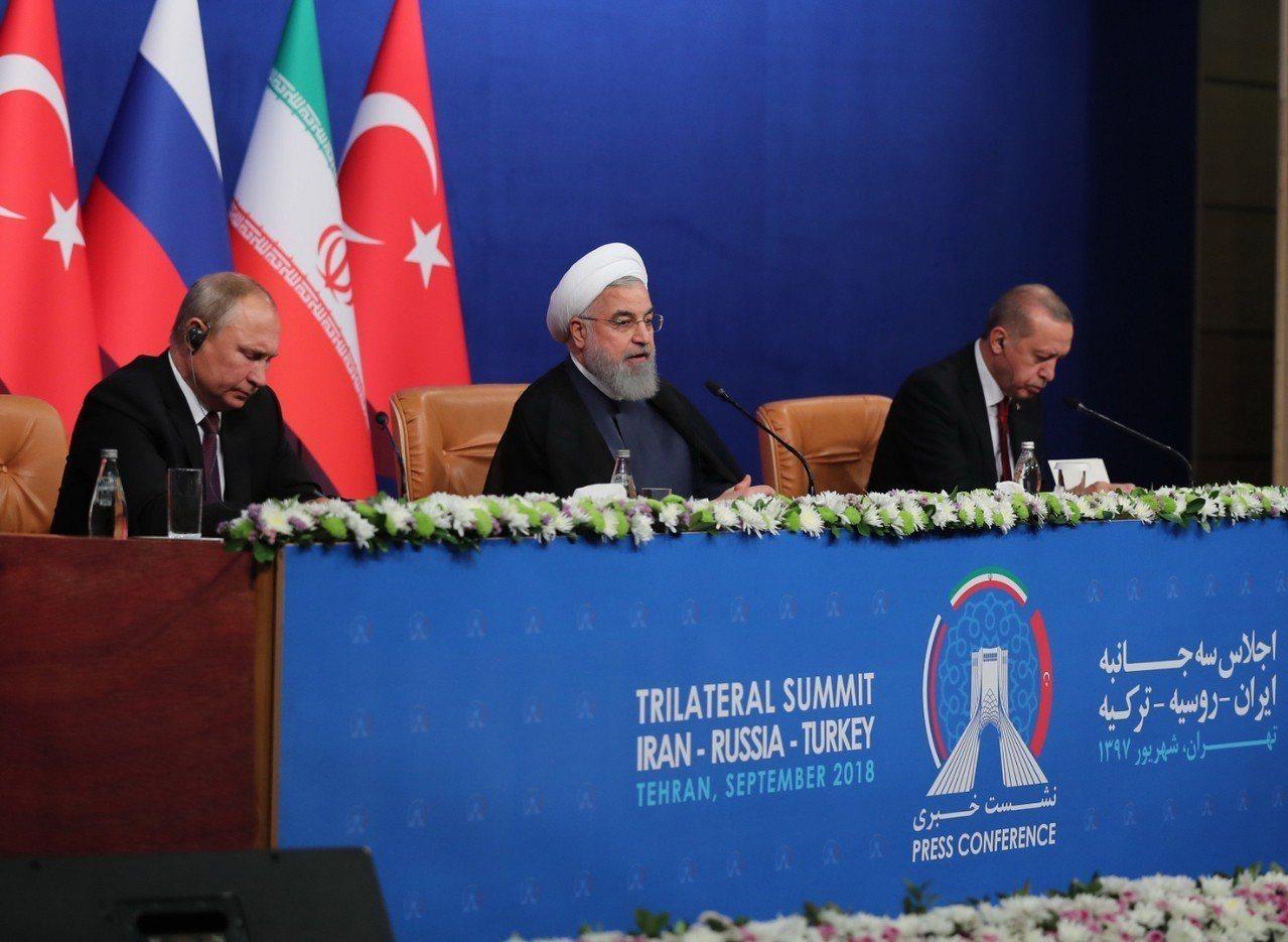 俄國總統蒲亭(Vladimir Putin)、伊朗總統羅哈尼(Hassan Ro...