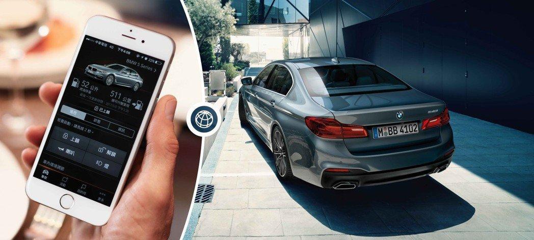 下載BMW Connected App即可藉由智慧型手機使用智能遠端遙控功能隨時...