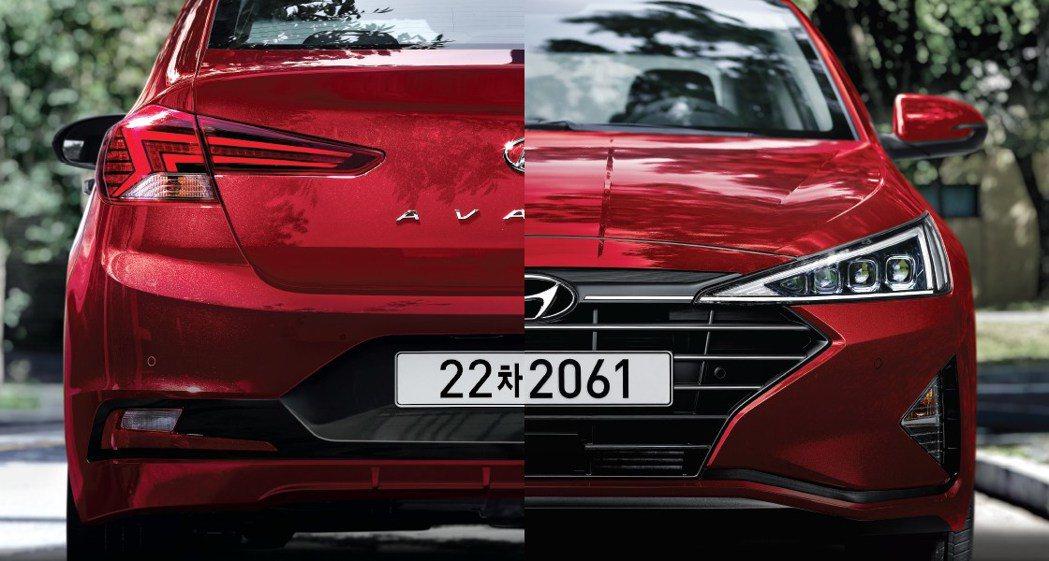 小改款Hyundai Elantra的外觀更動猶如大改款的等級。 摘自Hyund...