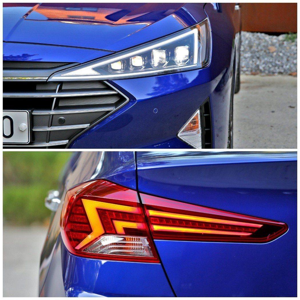小改款Hyundai Elantra全新頭尾燈式樣。 摘自Hyundai