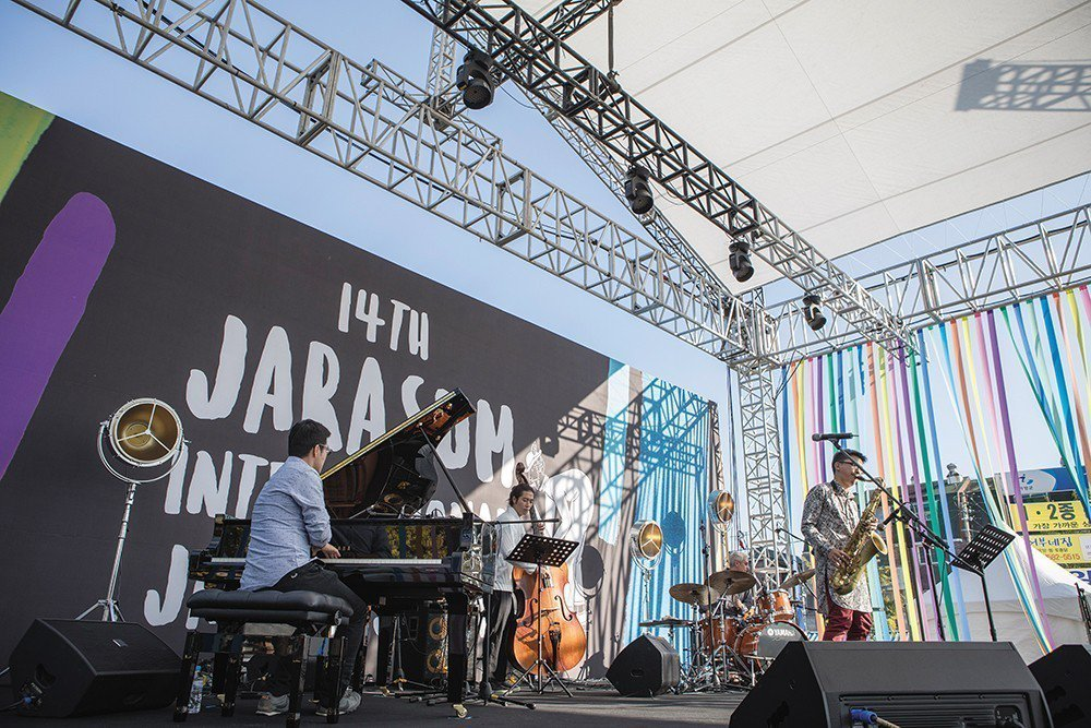 謝明諺於2017年Jarasum International Jazz Fest...